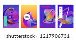 vector abstract colorful... | Shutterstock .eps vector #1217906731