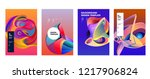 vector abstract colorful... | Shutterstock .eps vector #1217906824