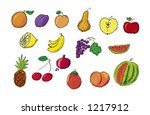 fruit vector illustration | Shutterstock .eps vector #1217912