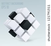 3d cube abstract background | Shutterstock .eps vector #121791511