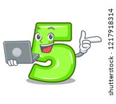 with laptop character number... | Shutterstock .eps vector #1217918314