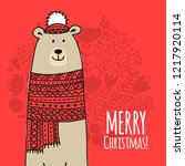 christmas card with white santa ... | Shutterstock .eps vector #1217920114
