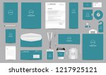 corporate identity set.... | Shutterstock .eps vector #1217925121