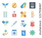 medical vector filled color... | Shutterstock .eps vector #1217928487