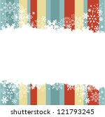 winter invitation postcard with ... | Shutterstock .eps vector #121793245