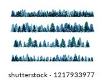 winter snowy forest. christmas... | Shutterstock .eps vector #1217933977