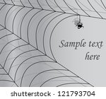Gray Background With Spider And ...