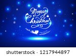 christmas  postcard  happy new... | Shutterstock .eps vector #1217944897