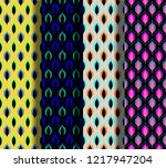 set of vintage seamless... | Shutterstock .eps vector #1217947204