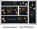 set of christmas banner vector... | Shutterstock .eps vector #1217953321