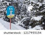pyrenees  andorra   february 6  ... | Shutterstock . vector #1217955154