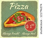 vintage menu  grunge card with... | Shutterstock .eps vector #121796374