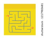 abstract square maze. game for... | Shutterstock .eps vector #1217983681