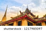 temple of the reclining buddha  ... | Shutterstock . vector #1217985097