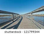 elevated walkway above a salt... | Shutterstock . vector #121799344