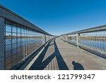 elevated walkway above a salt... | Shutterstock . vector #121799347