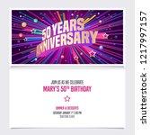50 years anniversary invitation ... | Shutterstock .eps vector #1217997157