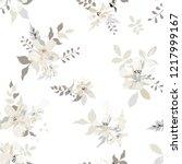 seamless floral pattern....   Shutterstock .eps vector #1217999167