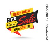 super sale tag or label with 50 ...   Shutterstock .eps vector #1218009481