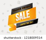 limited time sale for black... | Shutterstock .eps vector #1218009514