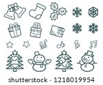 object of christmas   only... | Shutterstock .eps vector #1218019954