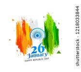 happy republic day greeting... | Shutterstock .eps vector #1218033844