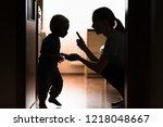Mom Disciplining Her Child....