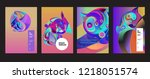 vector abstract 3d colorful...   Shutterstock .eps vector #1218051574