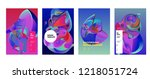 vector abstract 3d colorful...   Shutterstock .eps vector #1218051724
