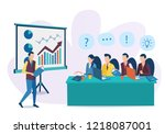 the concept of business... | Shutterstock .eps vector #1218087001