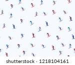 Skiers Pattern. Winter Seasona...