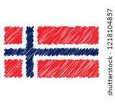 hand drawn national flag of... | Shutterstock .eps vector #1218104857