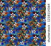 seamless pattern in brown  gray ... | Shutterstock . vector #1218114364