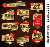 modern sale labels and banners...   Shutterstock .eps vector #1218121111
