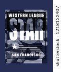 star western league slogan... | Shutterstock .eps vector #1218122407