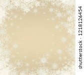 abstract snowflakes on colorful ... | Shutterstock . vector #1218126454