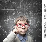 thinking child with a...   Shutterstock . vector #121813099
