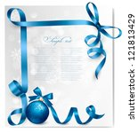 holiday background with blue... | Shutterstock .eps vector #121813429