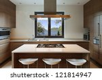 Stock photo beautiful apartment interior kitchen 121814947