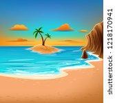 summer illustration banner | Shutterstock .eps vector #1218170941