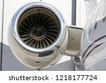 jet engine of aircraft close up ... | Shutterstock . vector #1218177724