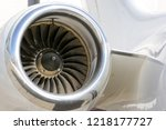 jet engine of aircraft close up ... | Shutterstock . vector #1218177727