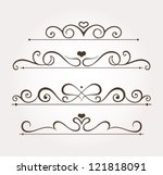set of four calligraphic floral ...