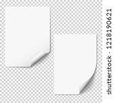 vector blank paper mockups  two ...   Shutterstock .eps vector #1218190621