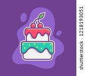 cake shop wedding birthday cup... | Shutterstock .eps vector #1218193051
