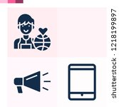 contains such icons as...   Shutterstock .eps vector #1218199897