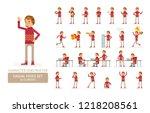 vector young adult man in... | Shutterstock .eps vector #1218208561