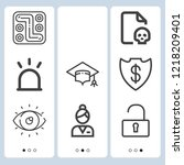 simple set of  9 outline icons...   Shutterstock .eps vector #1218209401