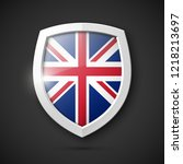 protected guard shield united... | Shutterstock .eps vector #1218213697