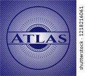 atlas badge with denim...   Shutterstock .eps vector #1218216061